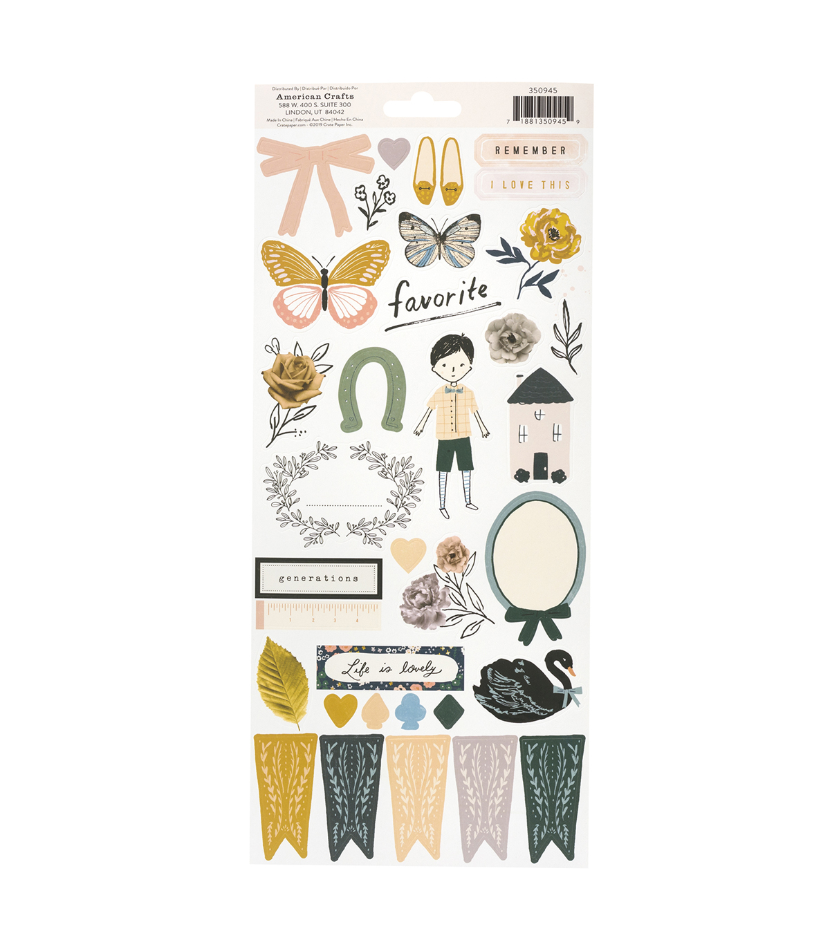 Heritage by Maggie Holmes 6\u0022x12\u0022 Sticker Sheet