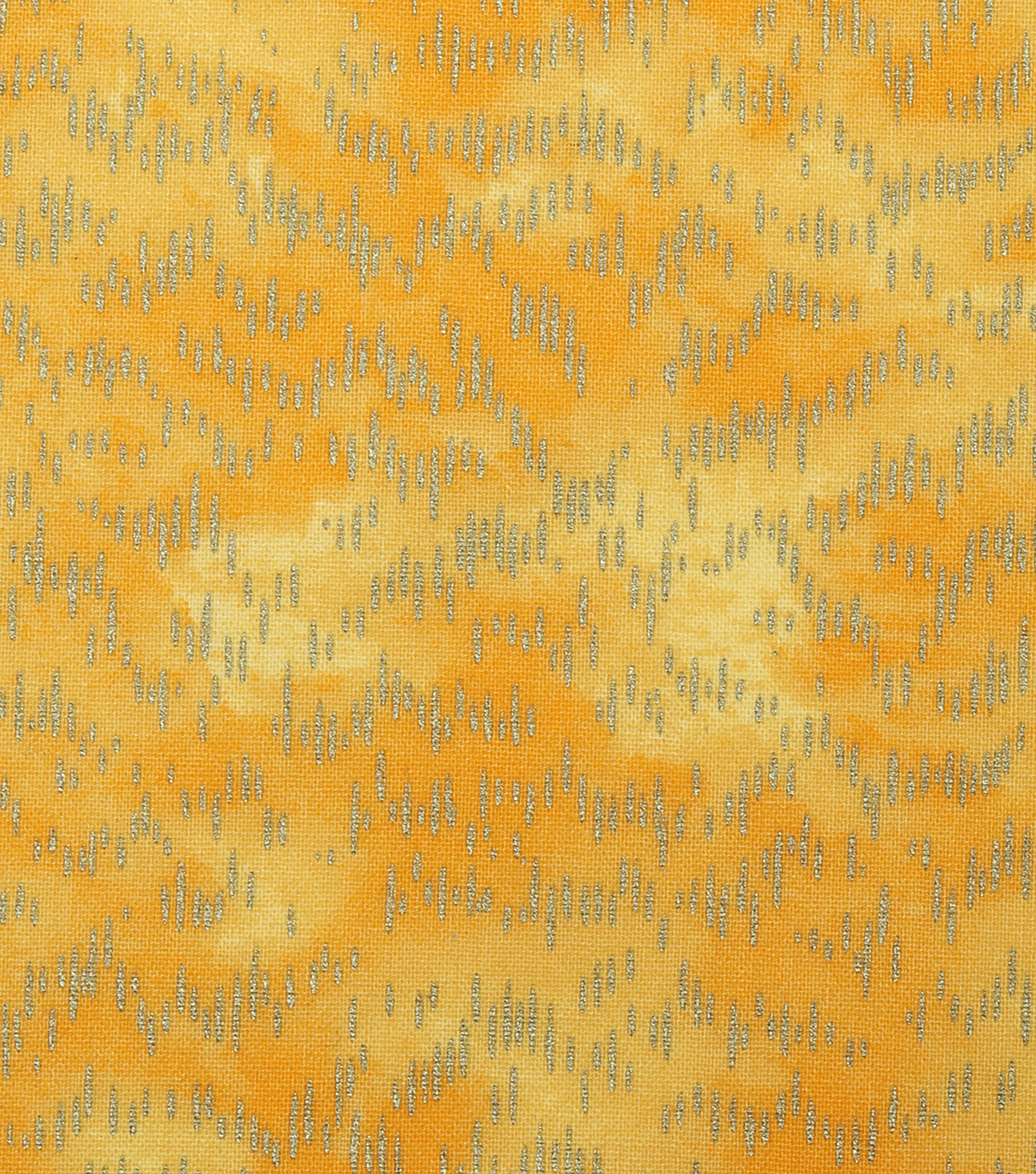 Keepsake Calico Cotton Fabric -Metallic Speckled on Yellow