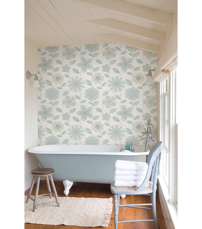 Wallpops Nuwallpaper Batik Floral Peel And Stick Wallpaper Joann