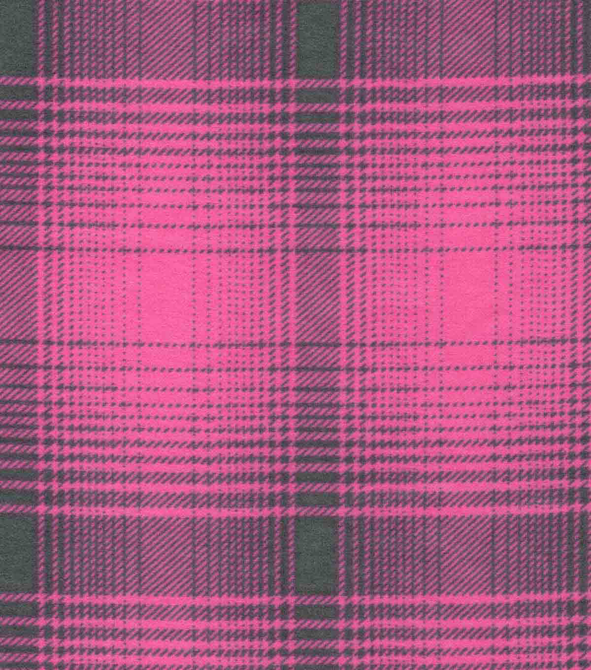 Luxe Flannel Fabric-Rory Pink Plaid