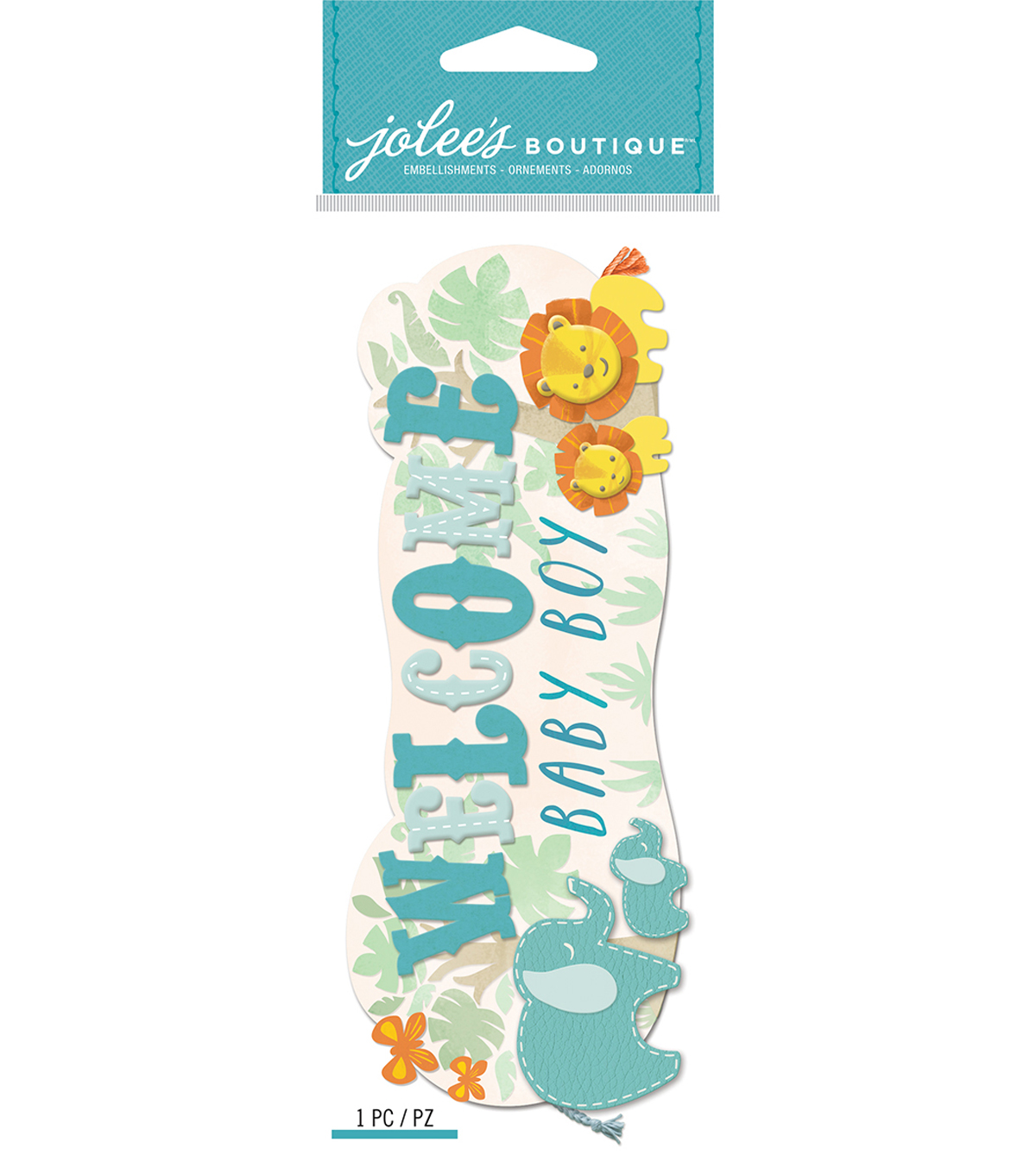 Jolee\u0027s Boutique Dimensional Stickers-Welcome Baby Boy