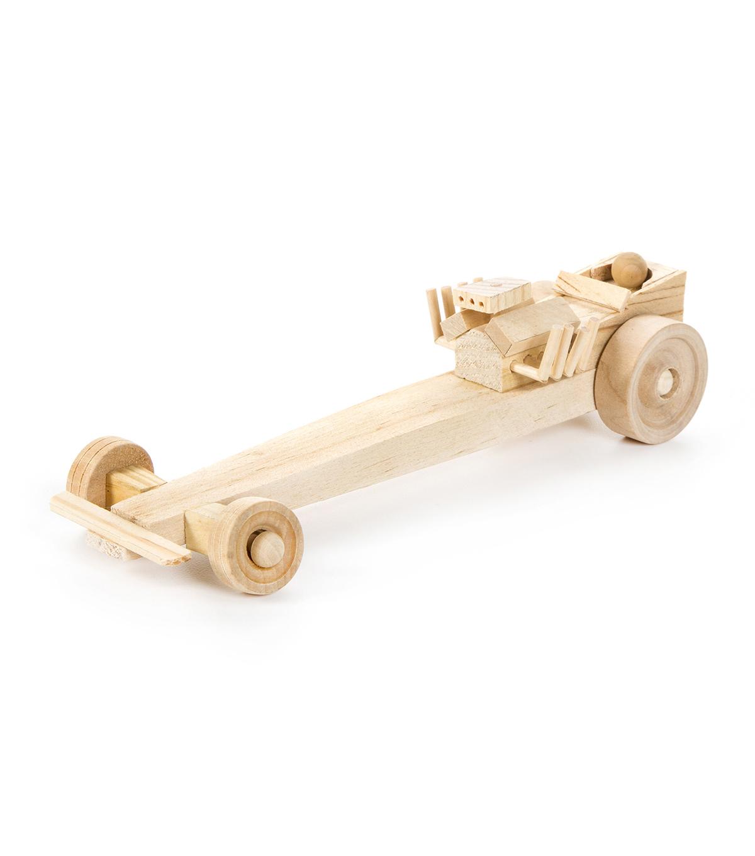 Wood Model Kit Drag Racer