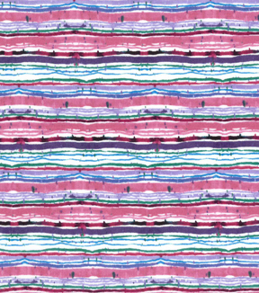 Premium Cotton Print Fabric 43\u0027\u0027-Teal Watercolor Stripes