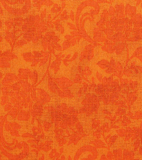Harvest Cotton Fabric-Orange Tonal Mum Scrolls
