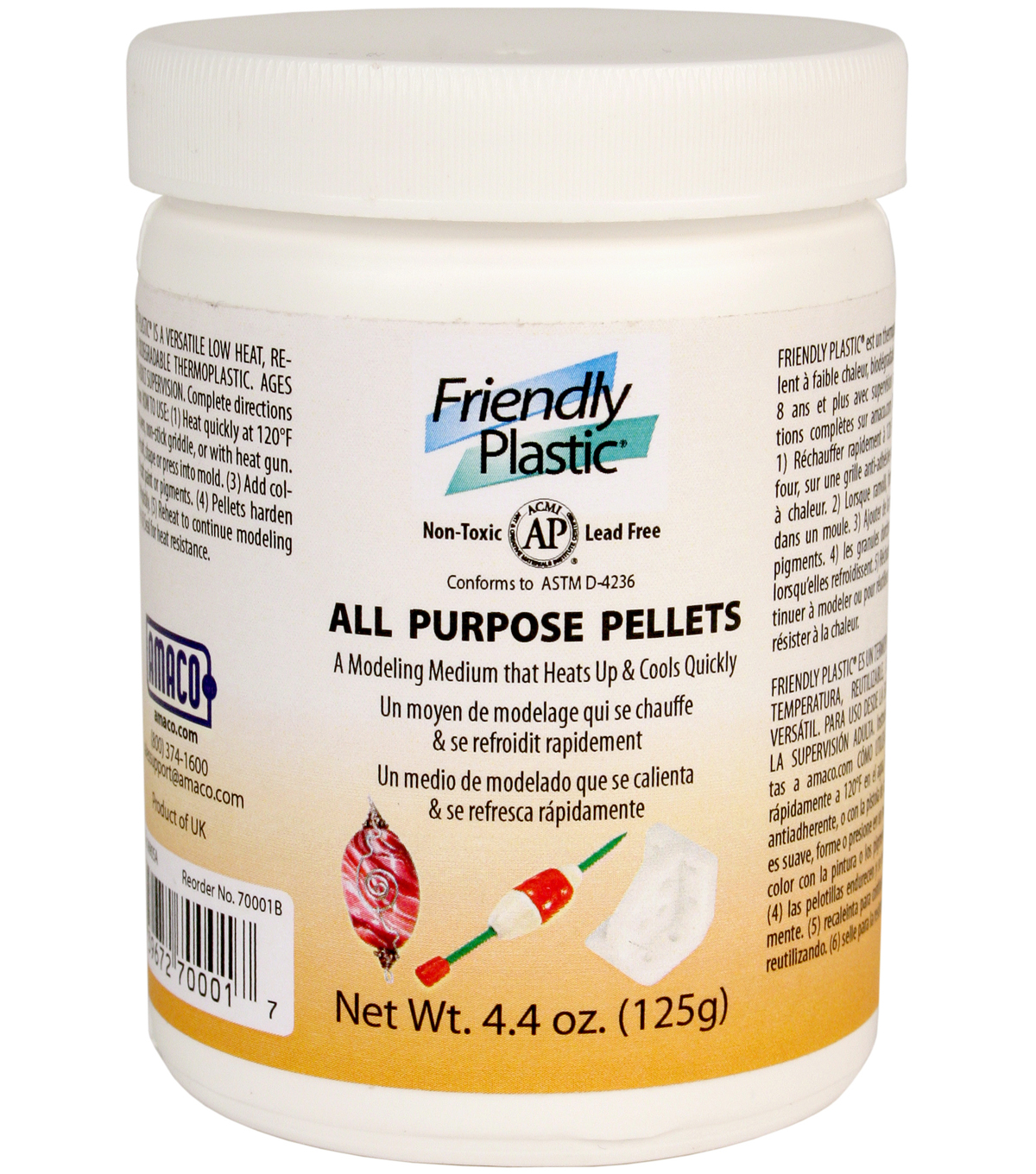 AMACO 4.4 oz. Friendly Plastic All Purpose Pellets-Ivory