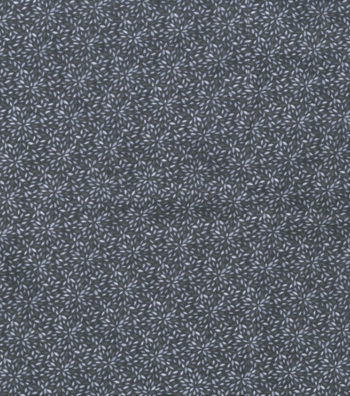 Quilter\u0027s Flannel Fabric-Gray Mum Bursts