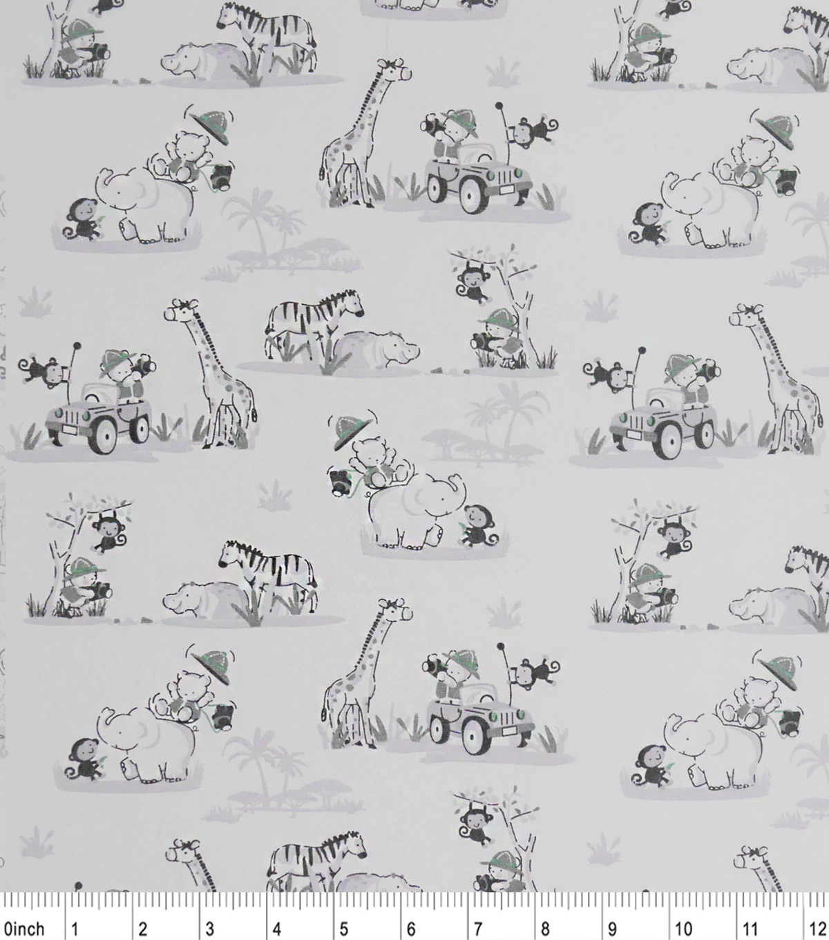 Nursery Cotton Fabric 43\u0022-Safari Friends
