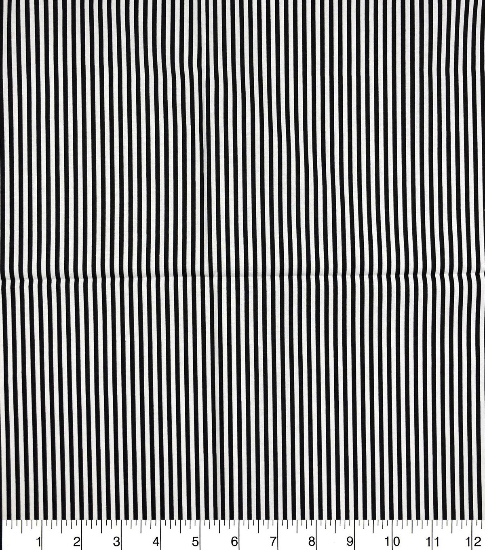 Keepsake Calico Cotton Fabric Black White Stripes Joann