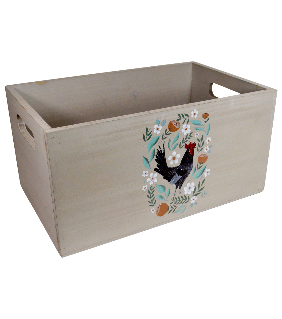 Organizing Essentials Small Wooden Crate-Farmhouse Collage