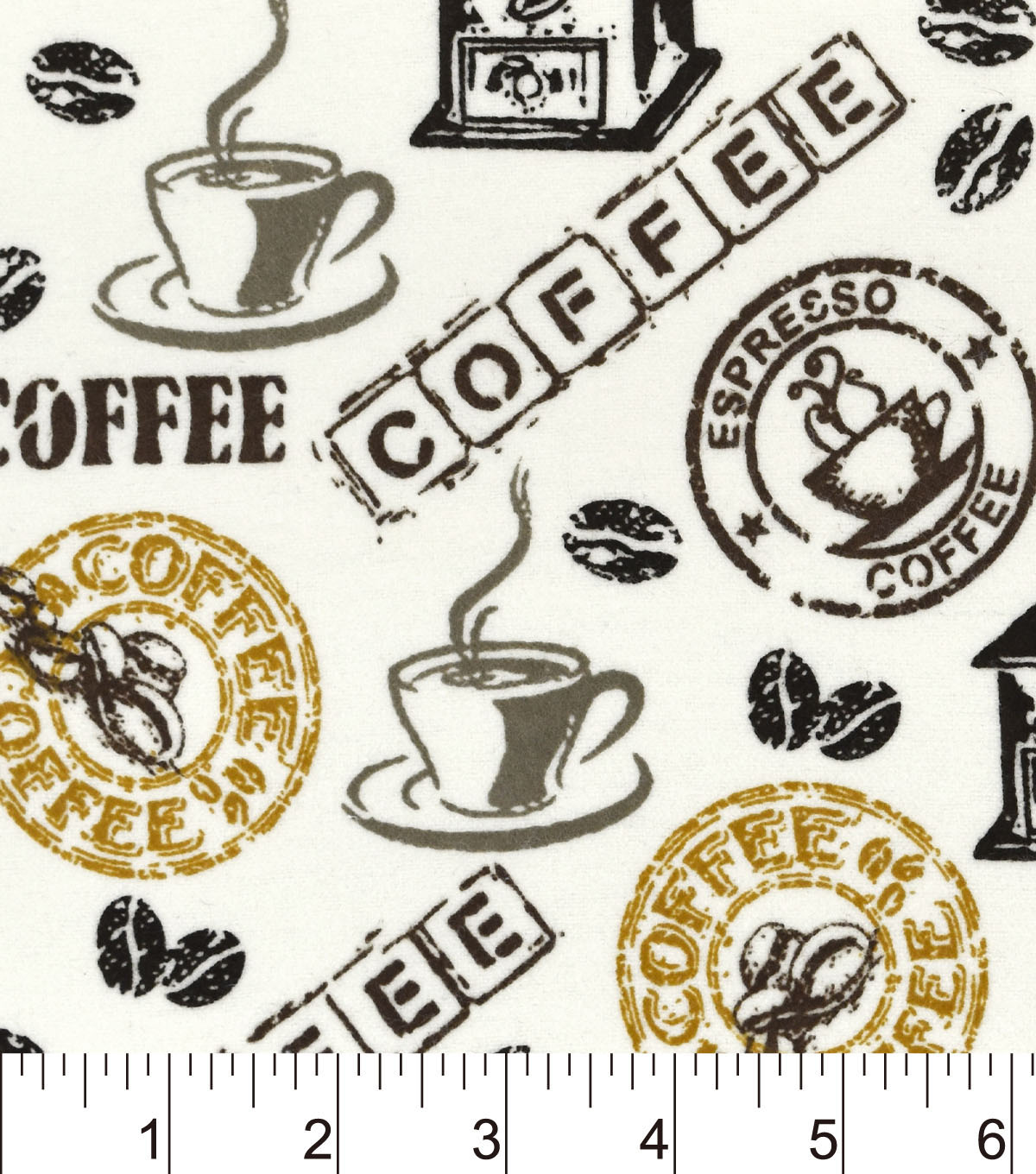 Snuggle Flannel Fabric -Hot Coffee