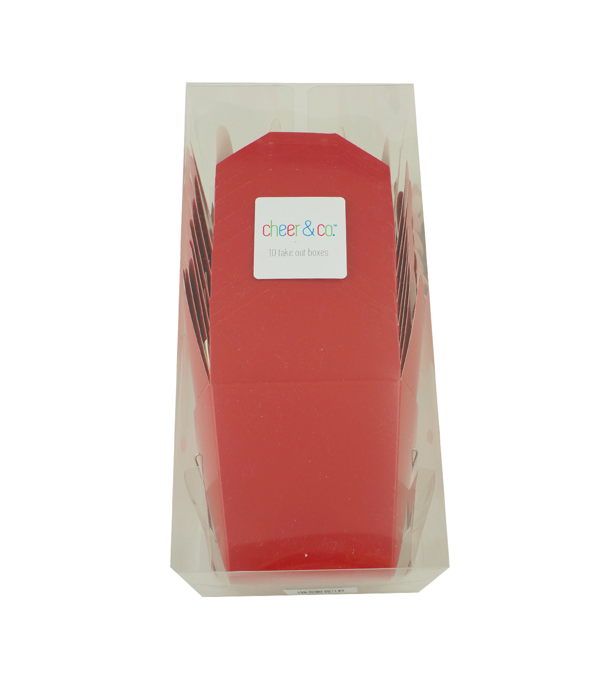 Cheer & Co 10ct Take Out Boxes-Red