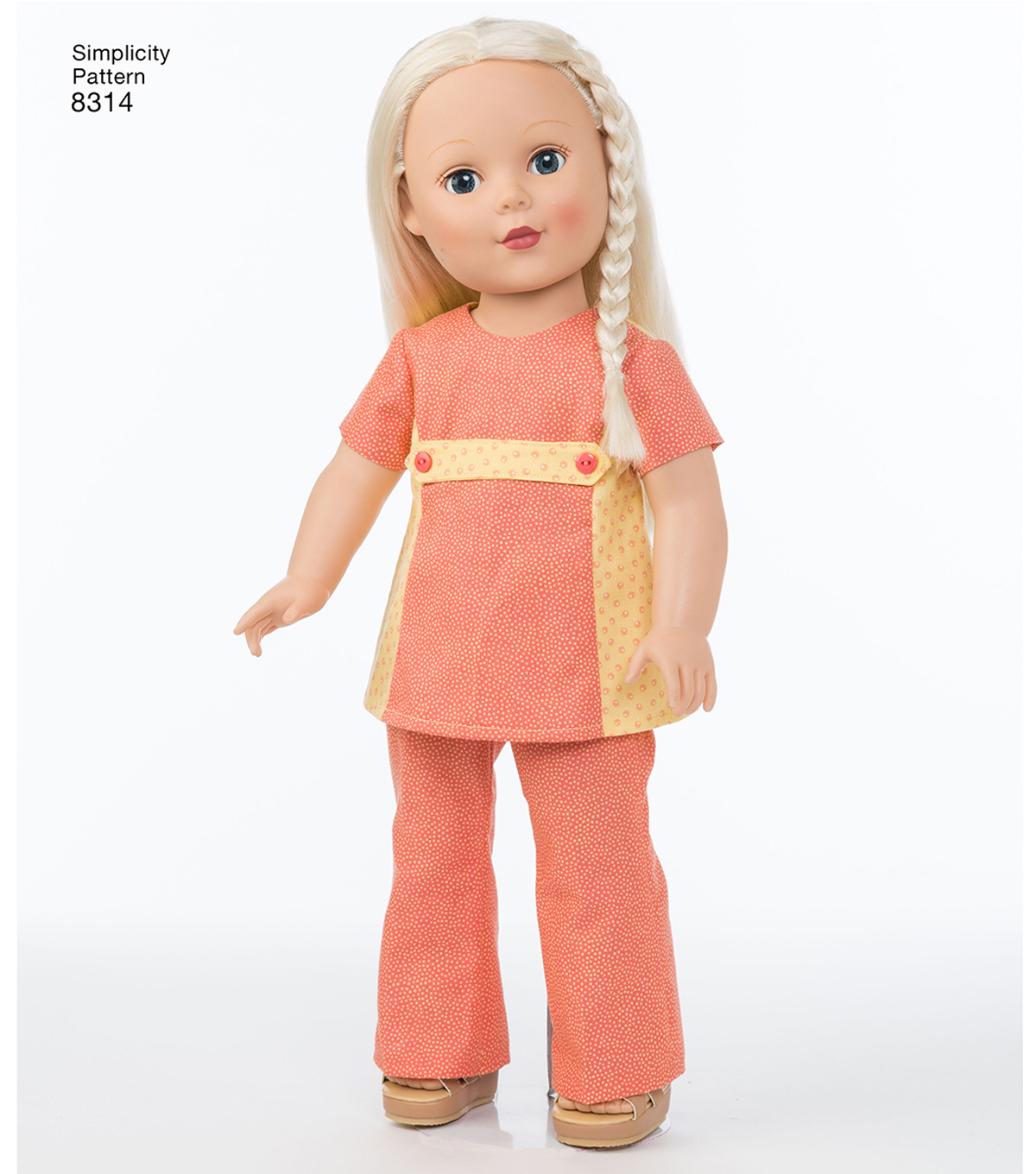 Simplicity Pattern 8314 18\u0027\u0027 Doll Clothes