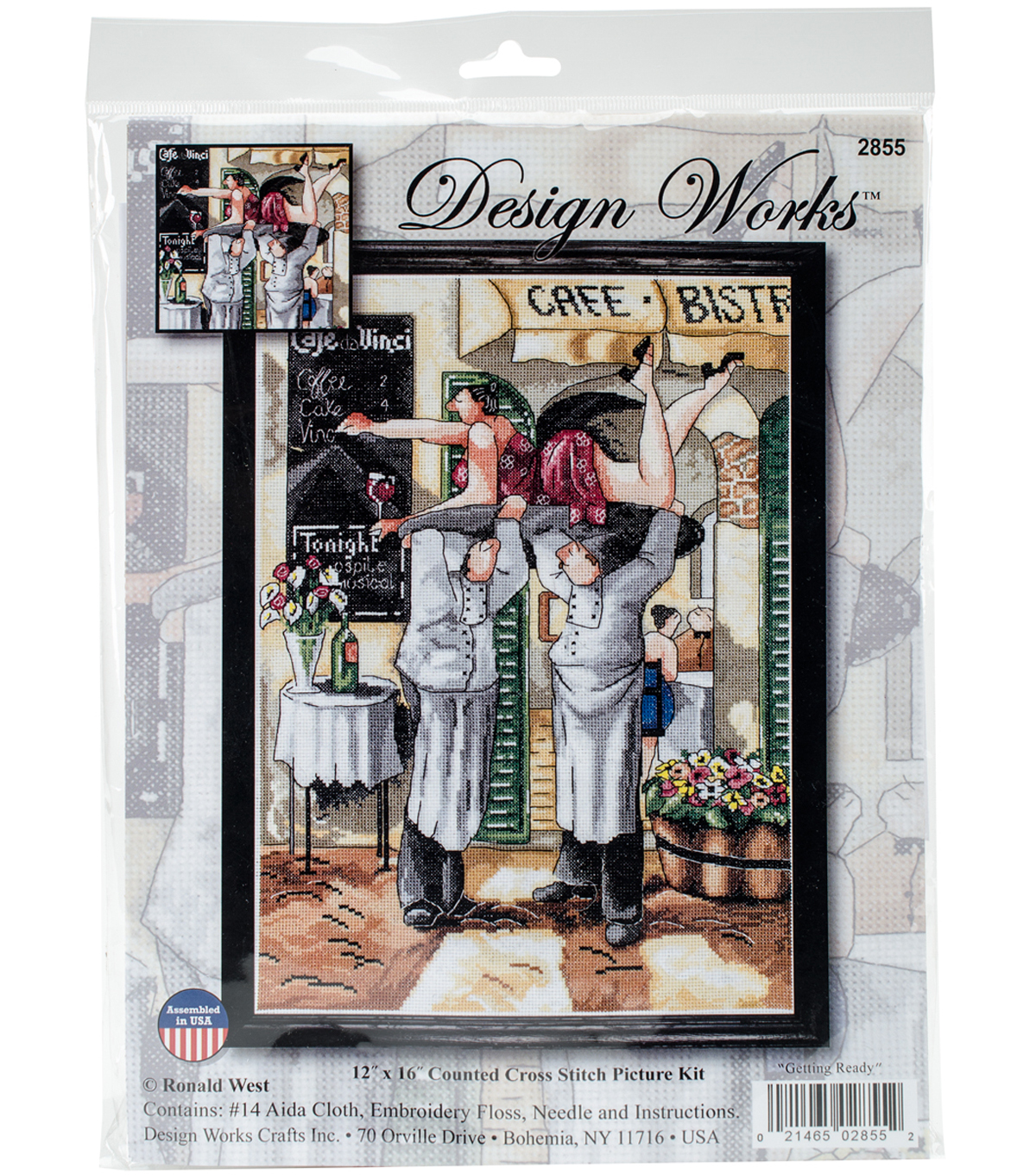 Design Works Crafts 12\u0027\u0027x16\u0027\u0027 Counted Cross Stitch Kit-Getting Ready