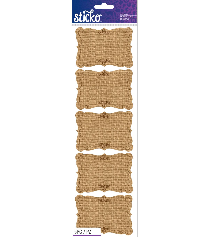 Sticko - Burlap Scroll Frames | JOANN