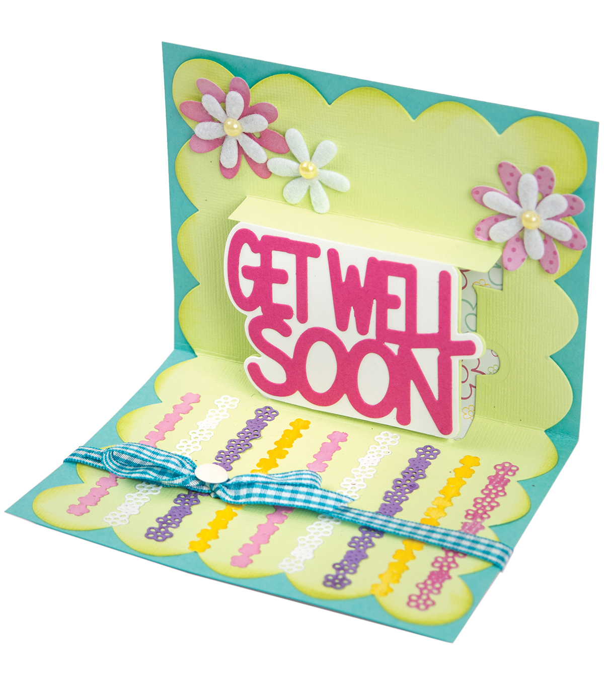Sizzix Thinlits 4 Pack Dies-Get Well 3D Drop-ins