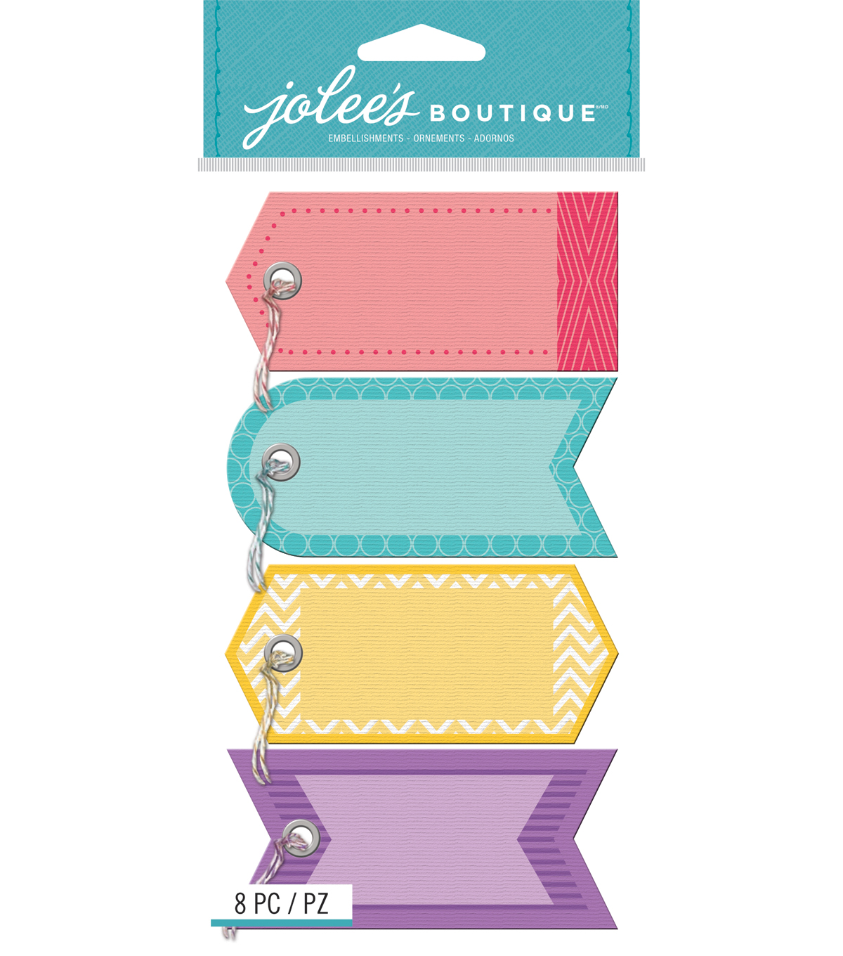 Jolee\u0027s Boutique - Color Tags with Twine