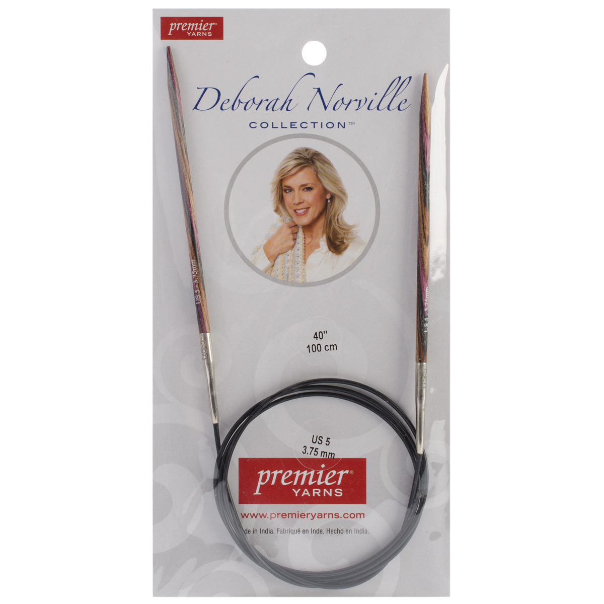 Deborah Norville Fixed Circular Needles 40\u0022 Size 5/3.75mm