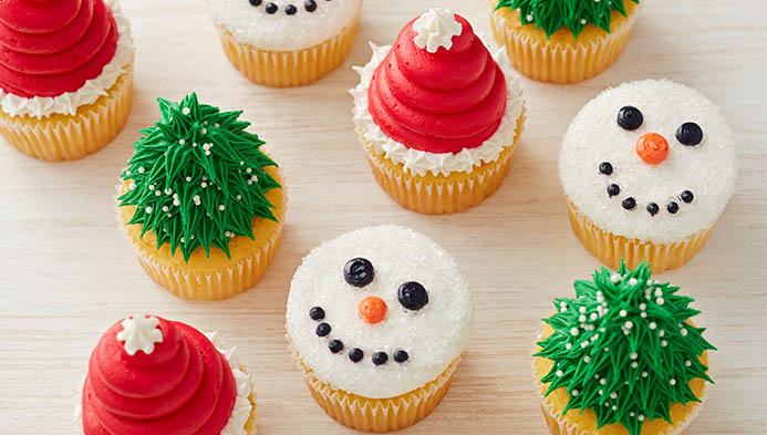 Kids' Holiday Cupcakes