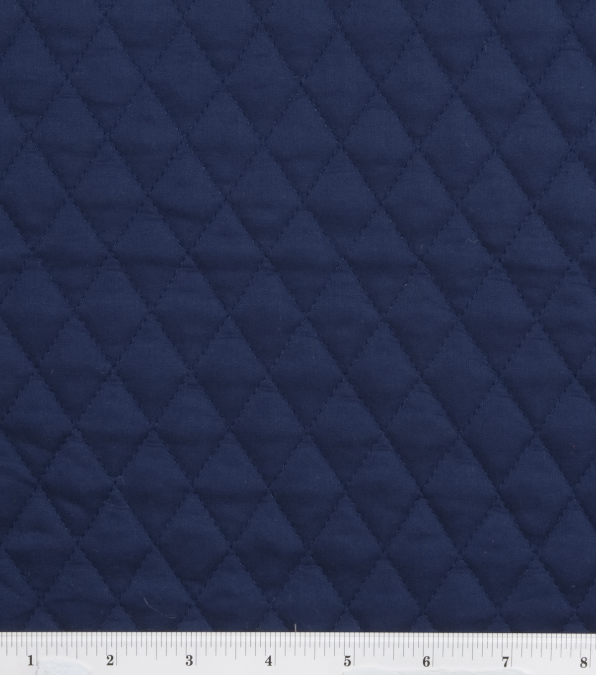 Double Faced Pre-Quilted Cotton Fabric -Diamond Solids, Navy
