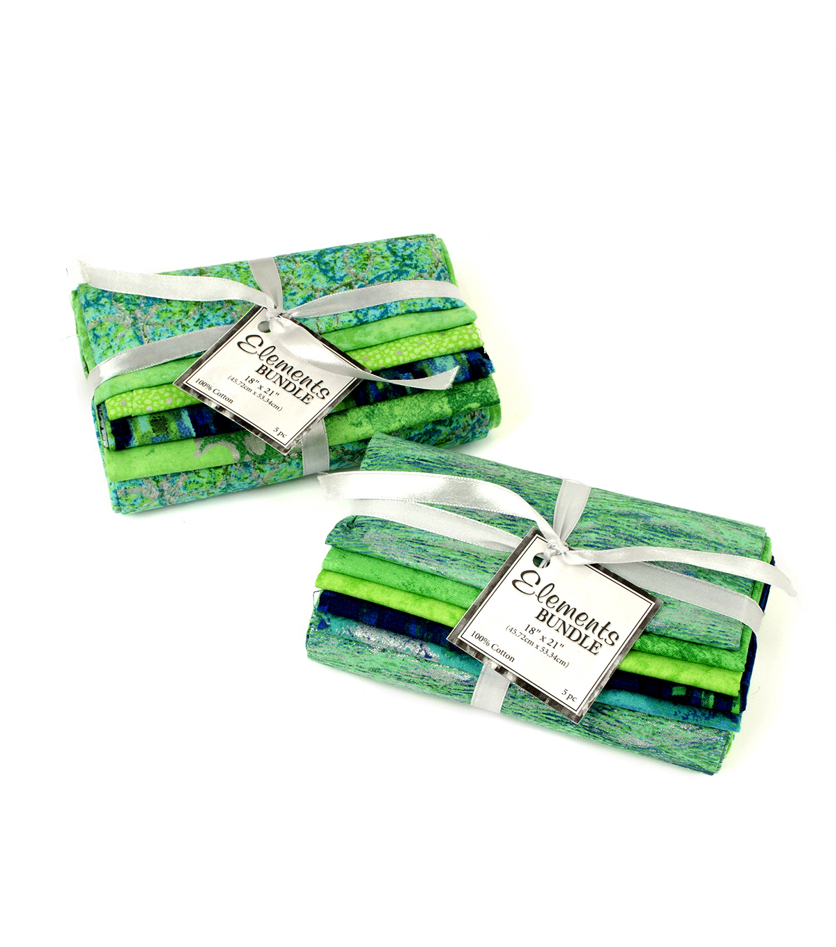 Fat Quarter Bundle Cotton Fabric 18\u0022-Blue/Green