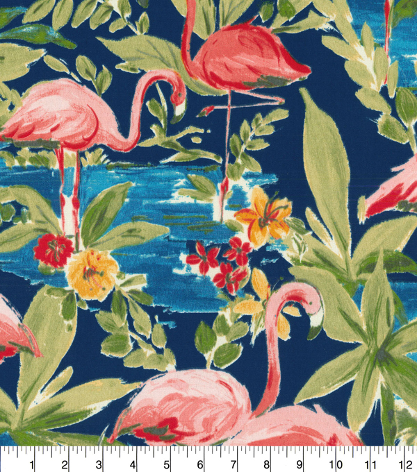 PKL Studio Outdoor Fabric 9\u0022x9\u0022 Swatch-Flamingoing Lagoon