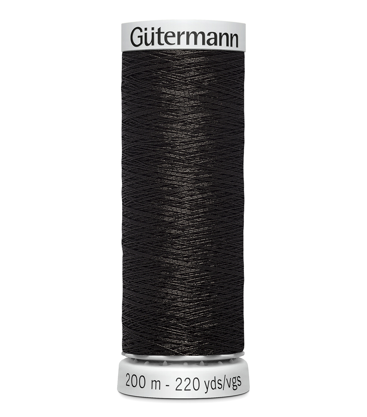 Gutermann 200M Dekor Thread, 200m Dekor Metallic-black