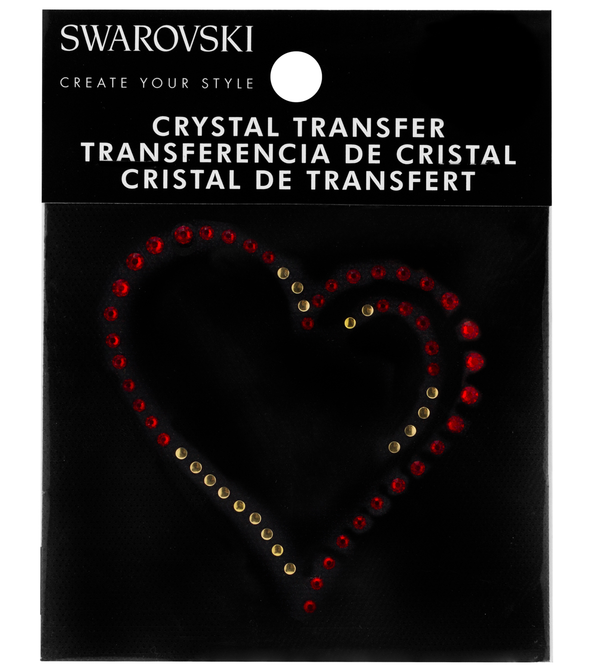 Swarovski Create Your Style Heart Crystals Iron-on Transfer-Red