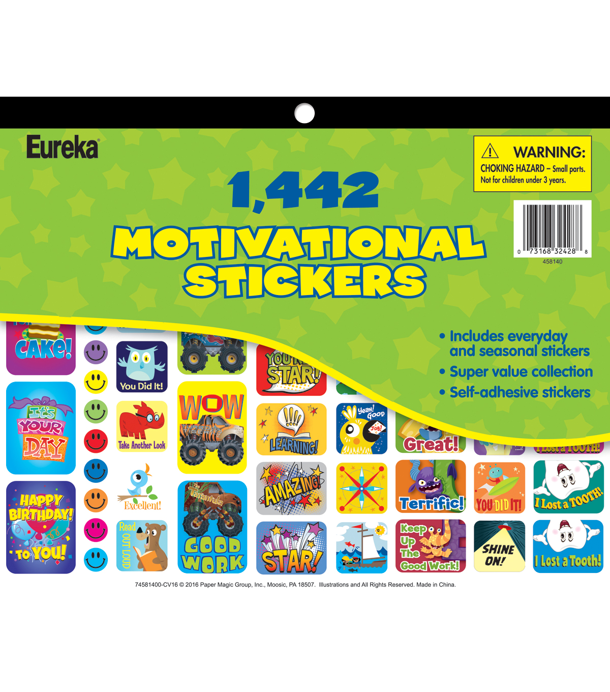 Eureka Sticker Books-1442 Jumbo Sticker Book