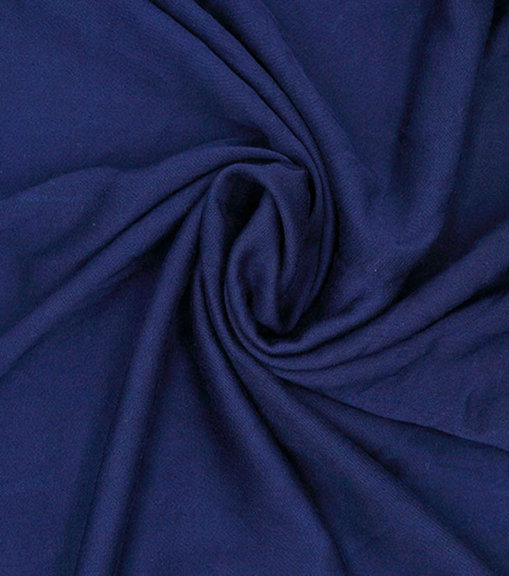 Silky Stretch Rayon Fabric -Navy