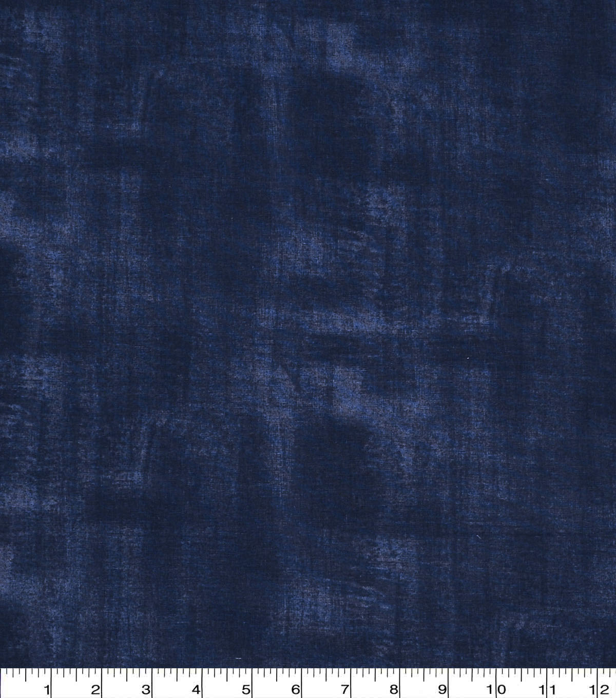Wide Cotton Fabric-Blue Brush Stroke