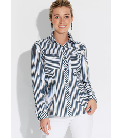 McCall\u0027s Pattern M7575 Misses\u0027 Shirts with Pocket Variations-Size 8-16
