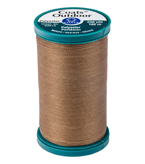 Coats & Clark Outdoor 200yd Thread, Coats Outdoor 200yd Brown Suga