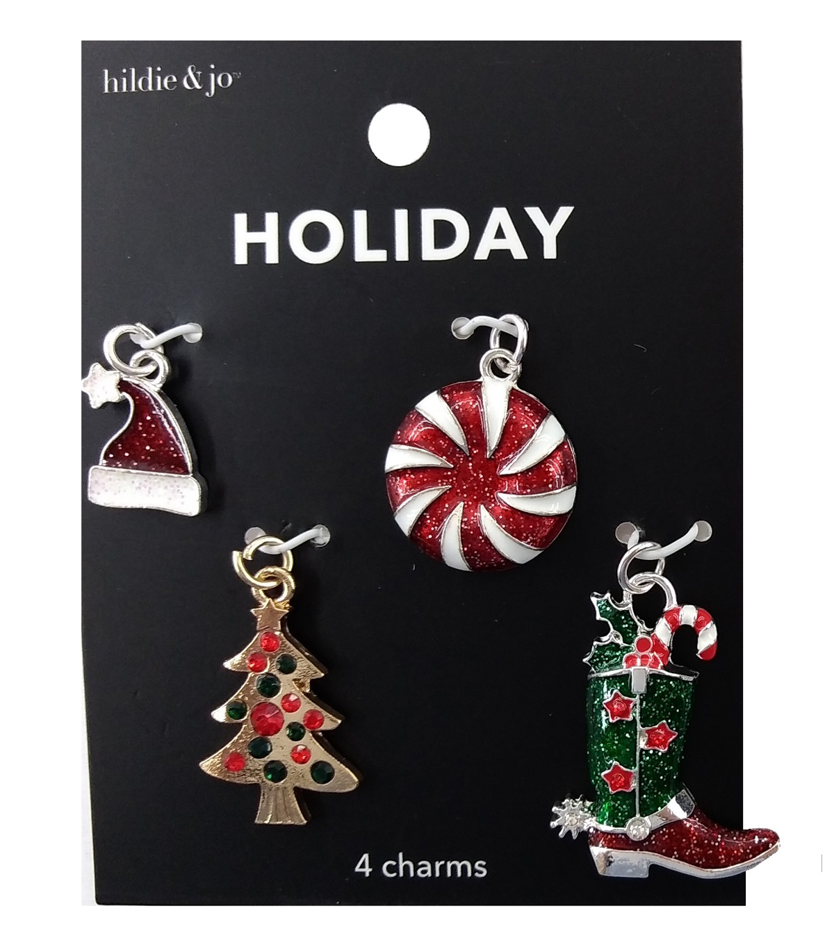 hildie & jo Holiday Charms-Cowboy Boot & Peppermint