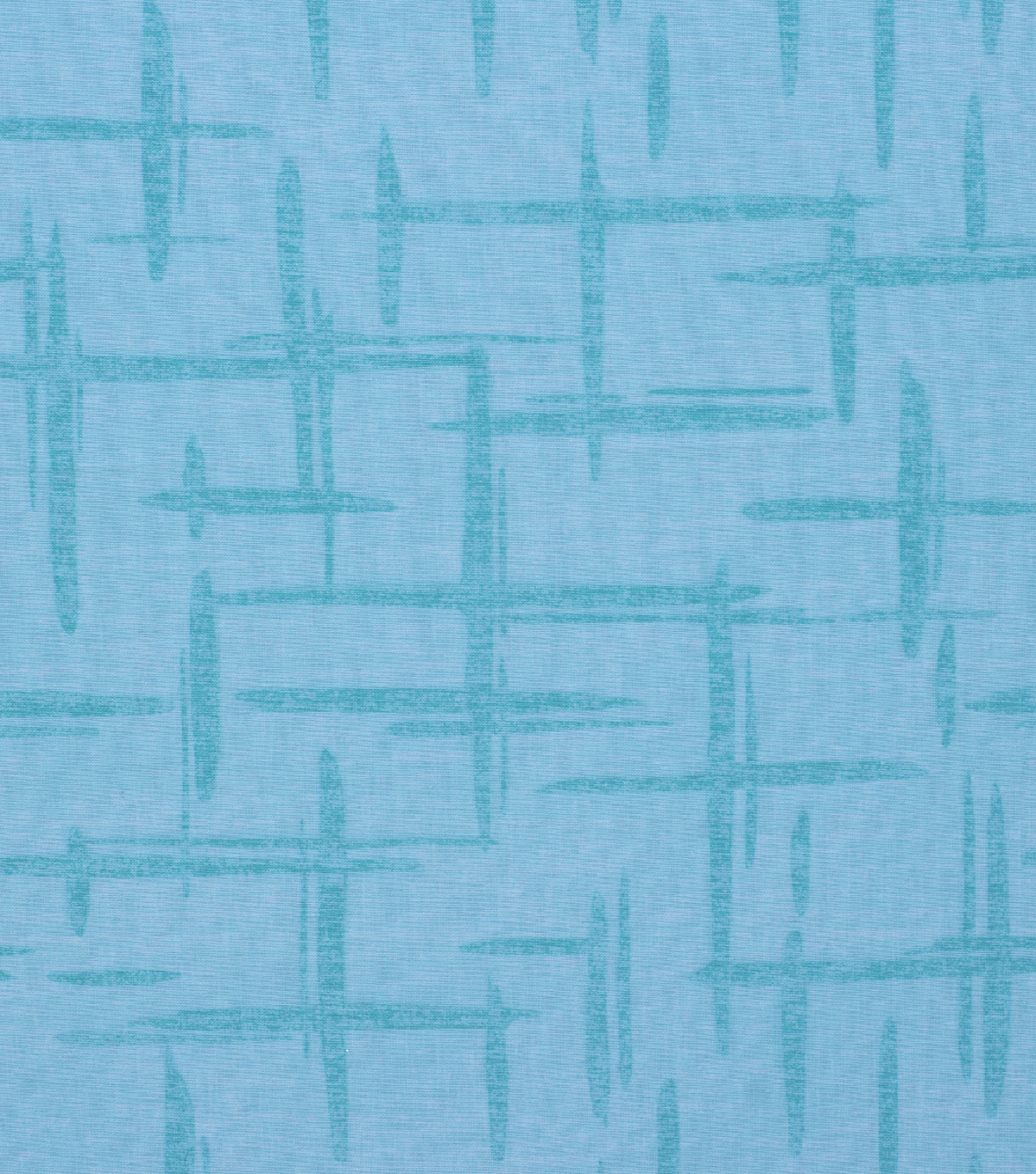Keepsake Calico Cotton Fabric-Large Broken Crosshatch Teal