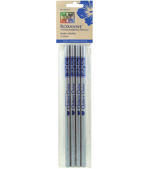 Roxanne Quilter\u0027s Choice Marking Pencils 4/Pkg-Silver