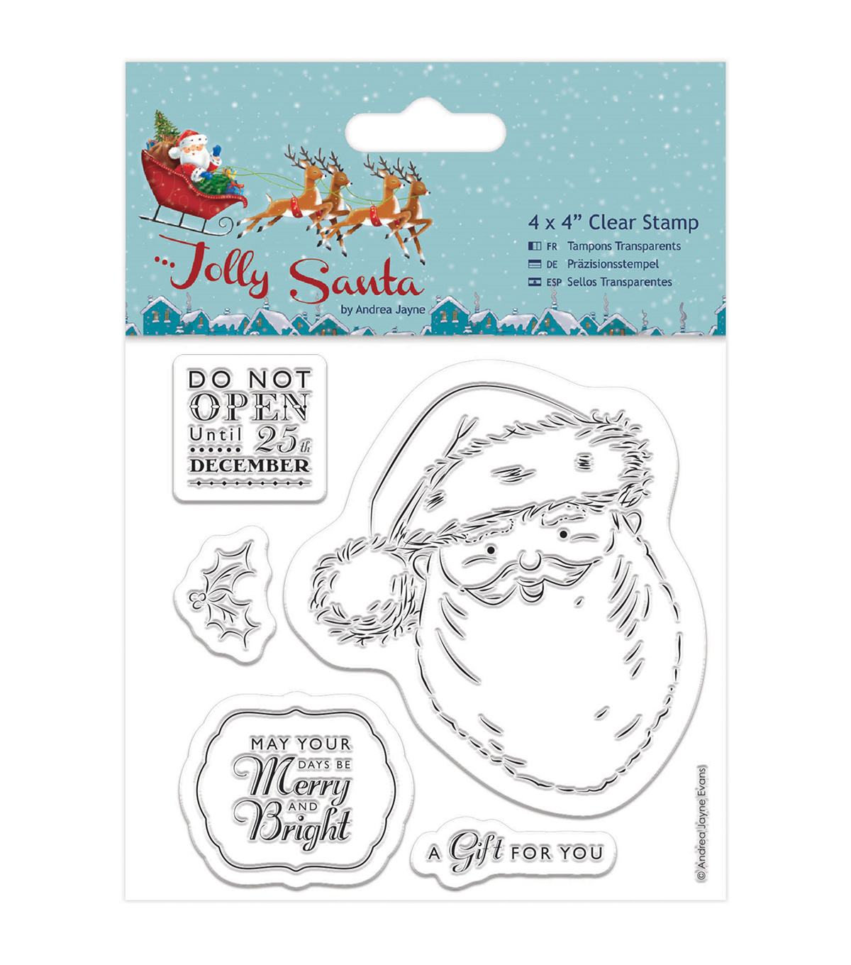 Papermania Jolly Santa Clear Stamps-Santa