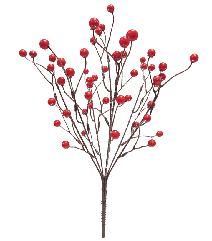 Blooming Holiday Christmas Small Berry Bush-Red