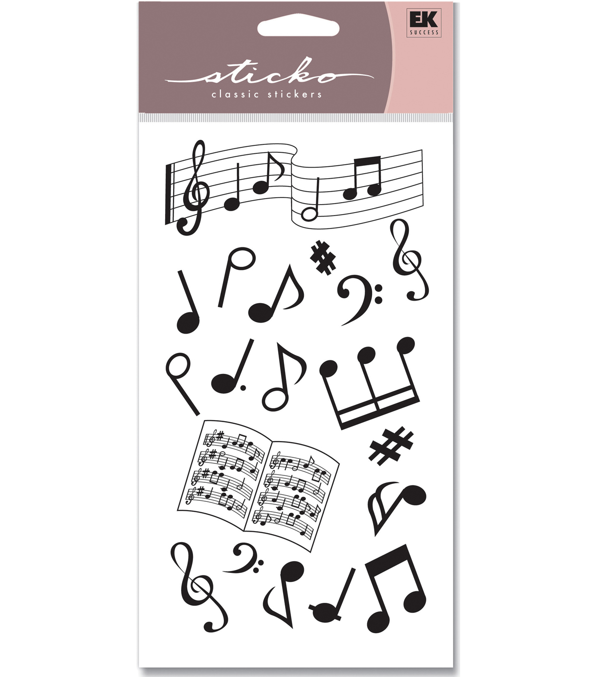 EK Success Sticko Silhouette Stickers-Musical Notes