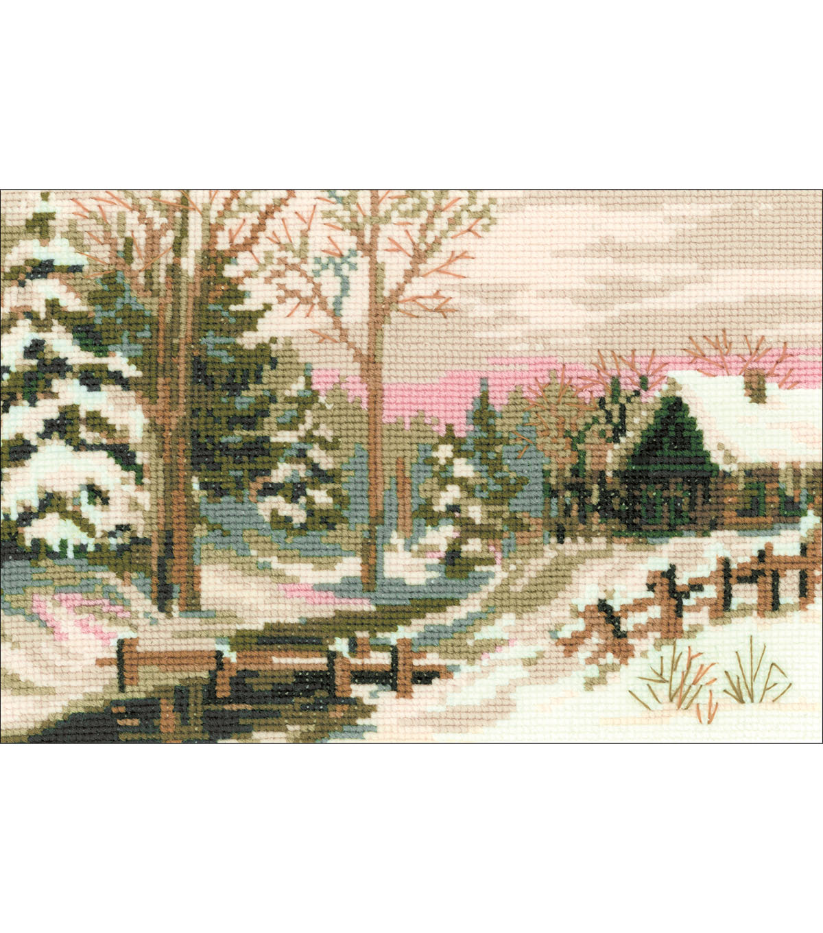 RIOLIS Counted Cross Stitch Kit 8.25\u0022X6\u0022-Winter Fairy Tale