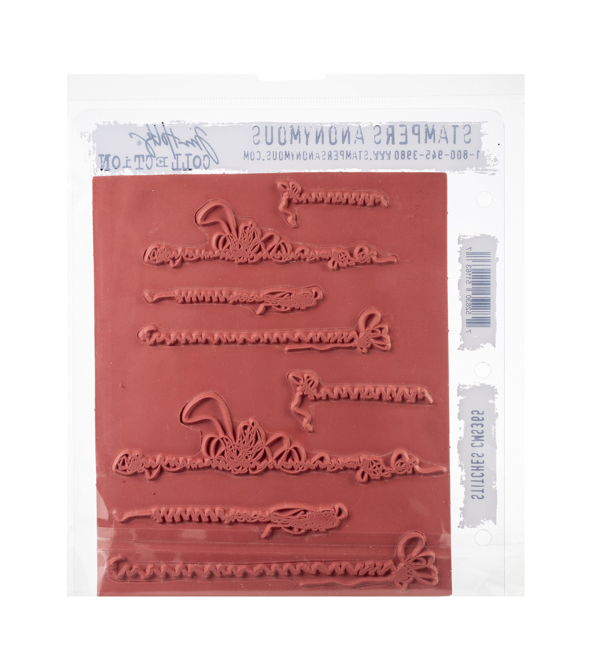 Tim Holtz Cling Stamps 7\u0027\u0027X8.5\u0027\u0027-Stitches