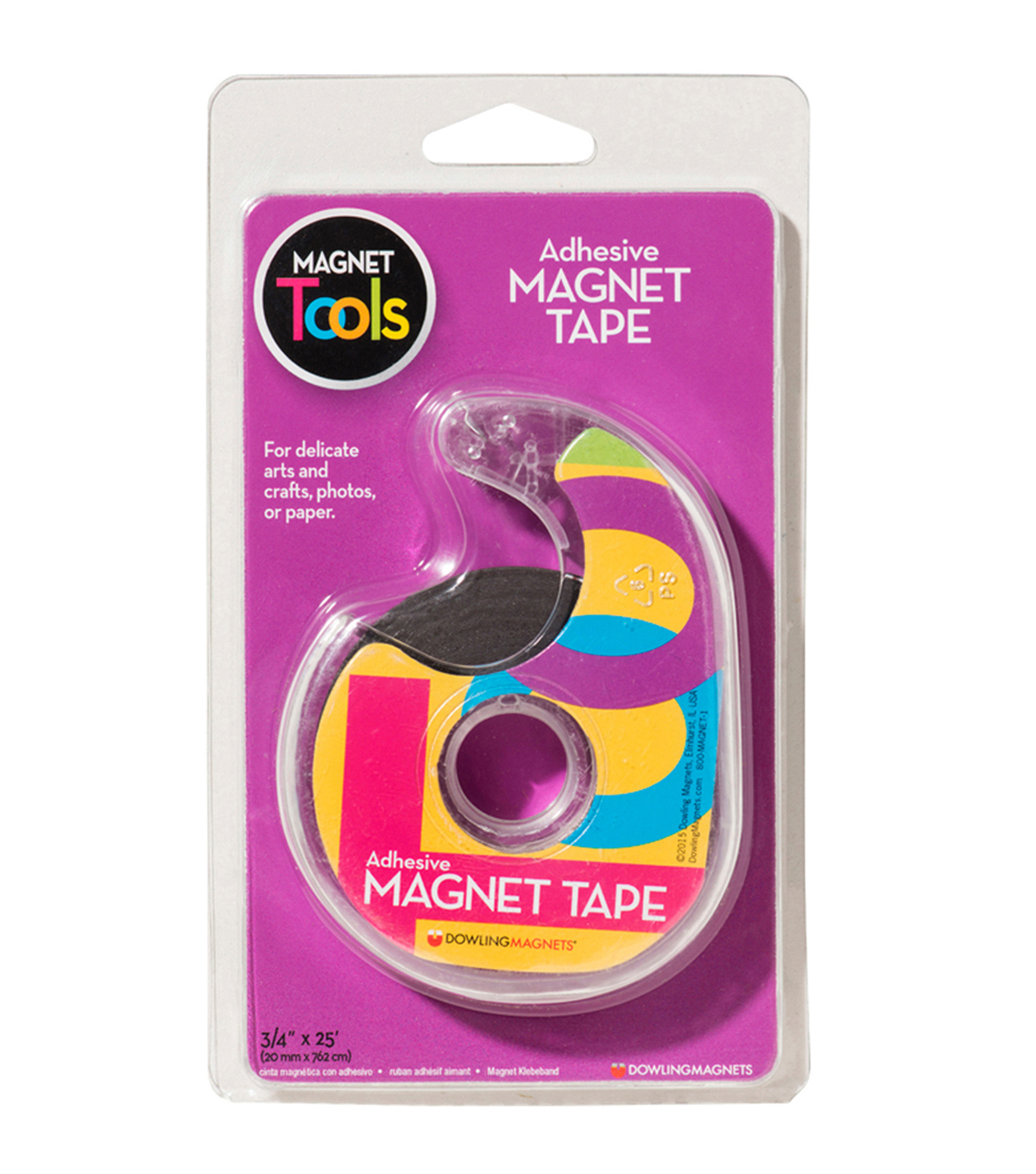 Dowling Magnets Magnet Tape 3/4X25 Adhesive Back, 6 Rolls