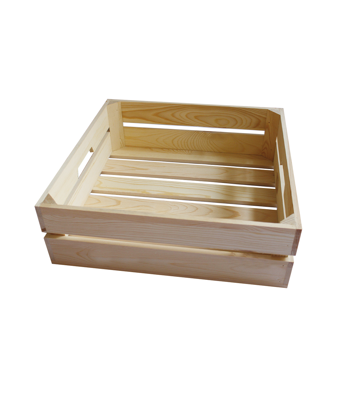 Large Shallow Pine Wood Crate