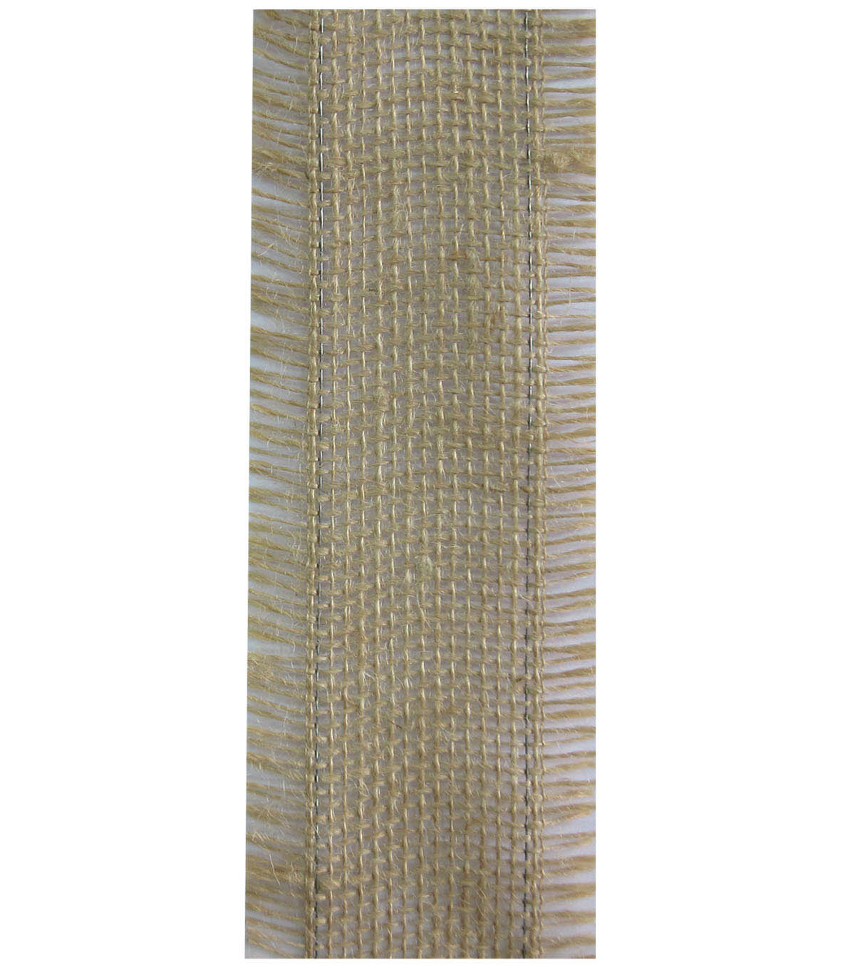 Decorative Ribbon 2.5\u0022 Brush Burlap Ribbon-Natural
