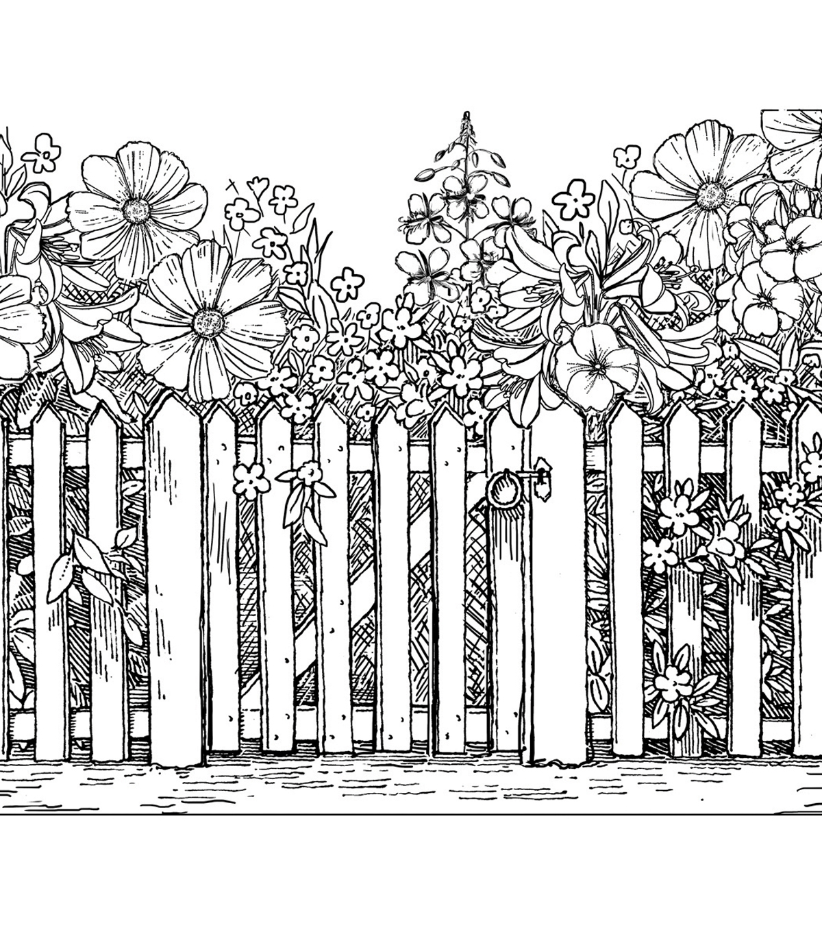 Crafty Individuals Beyond The Picket Fence Unmounted Rubber Stamp