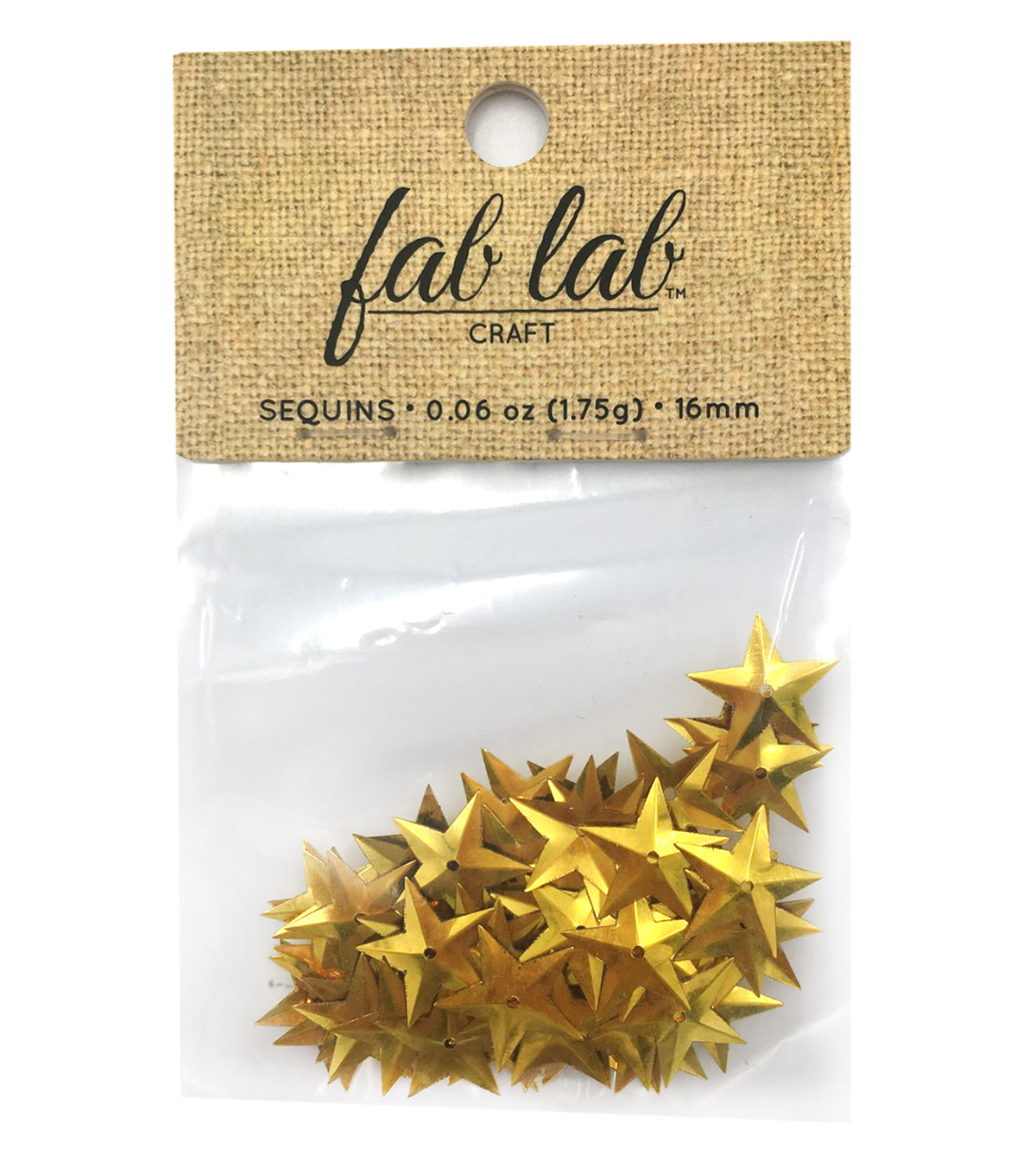 Sequin Star Gold-12pk