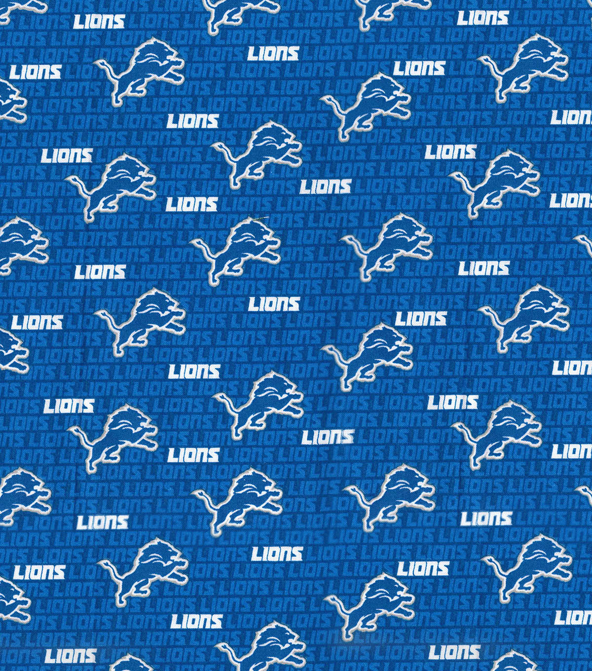 Detroit Lions Cotton Fabric -Mini Print