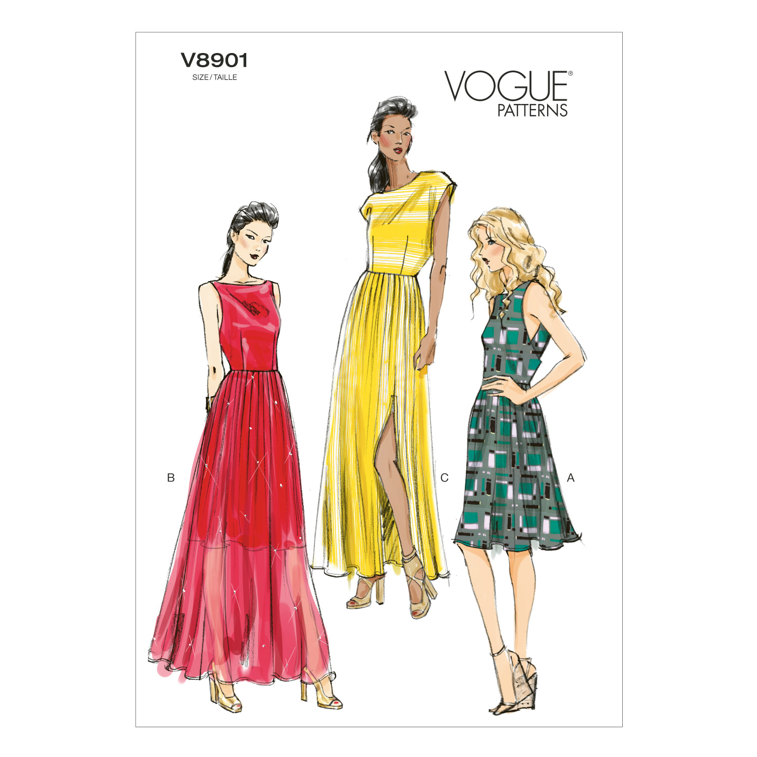Vogue Patterns Misses Dress-V8901