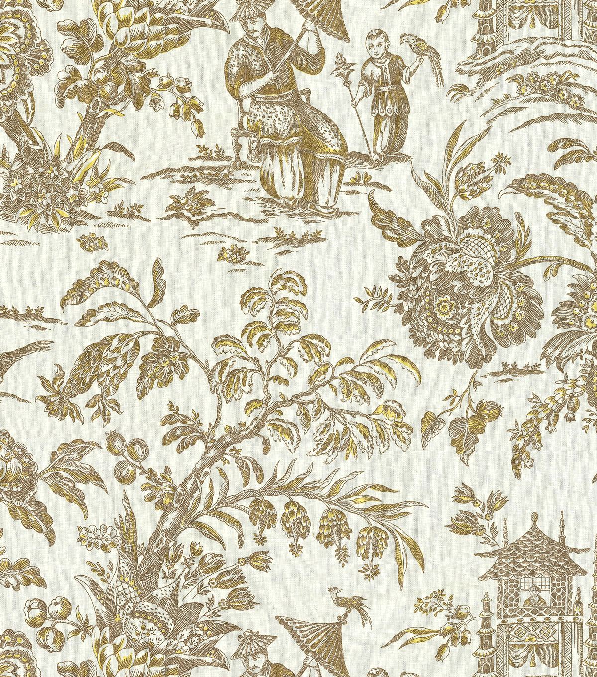 P/K Lifestyles Lightweight Decor Fabric 54\u0022-Asian Arcadia/Sepia