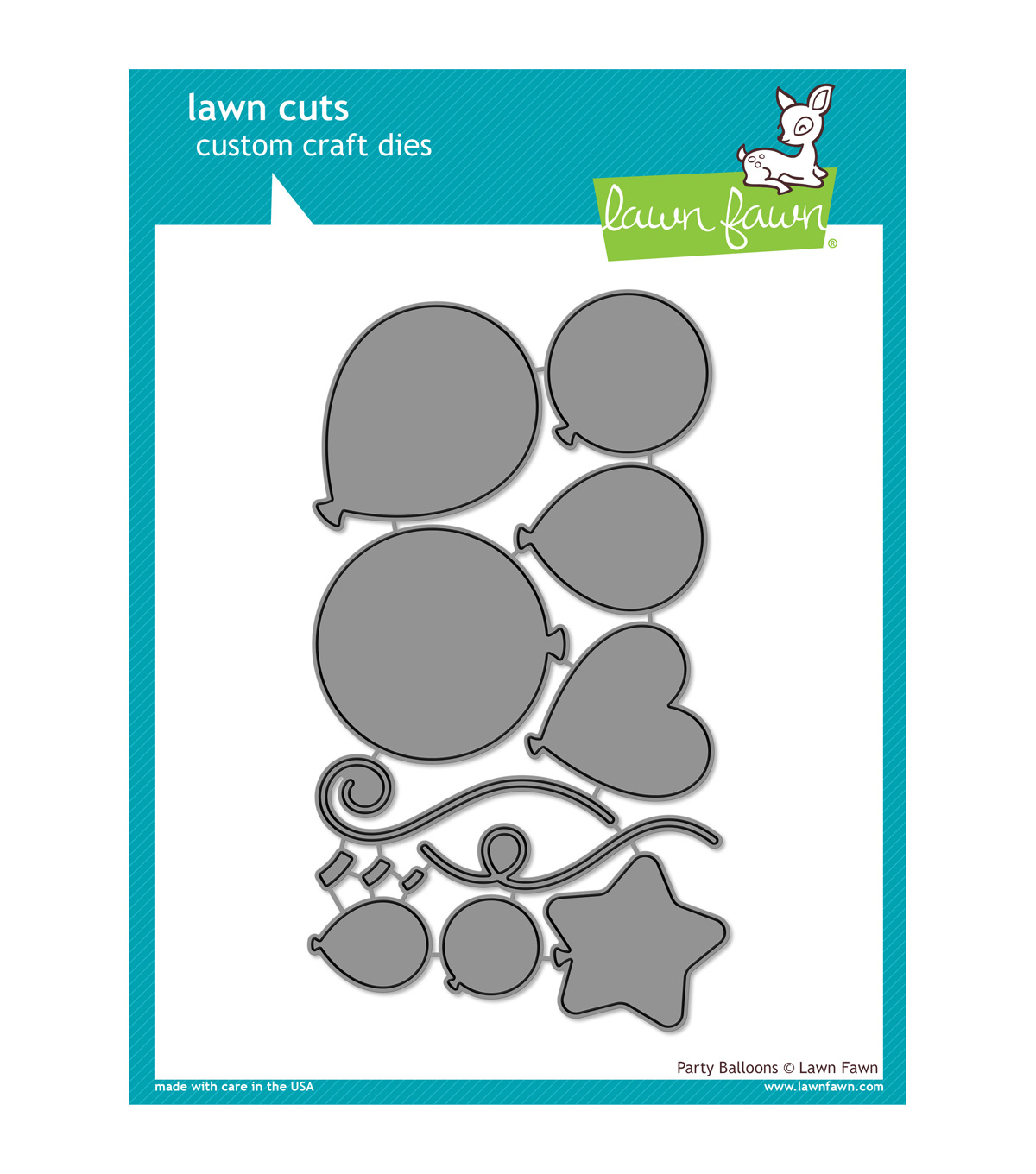 Lawn Fawn Lawn Cuts Custom Craft Die -Party Balloons