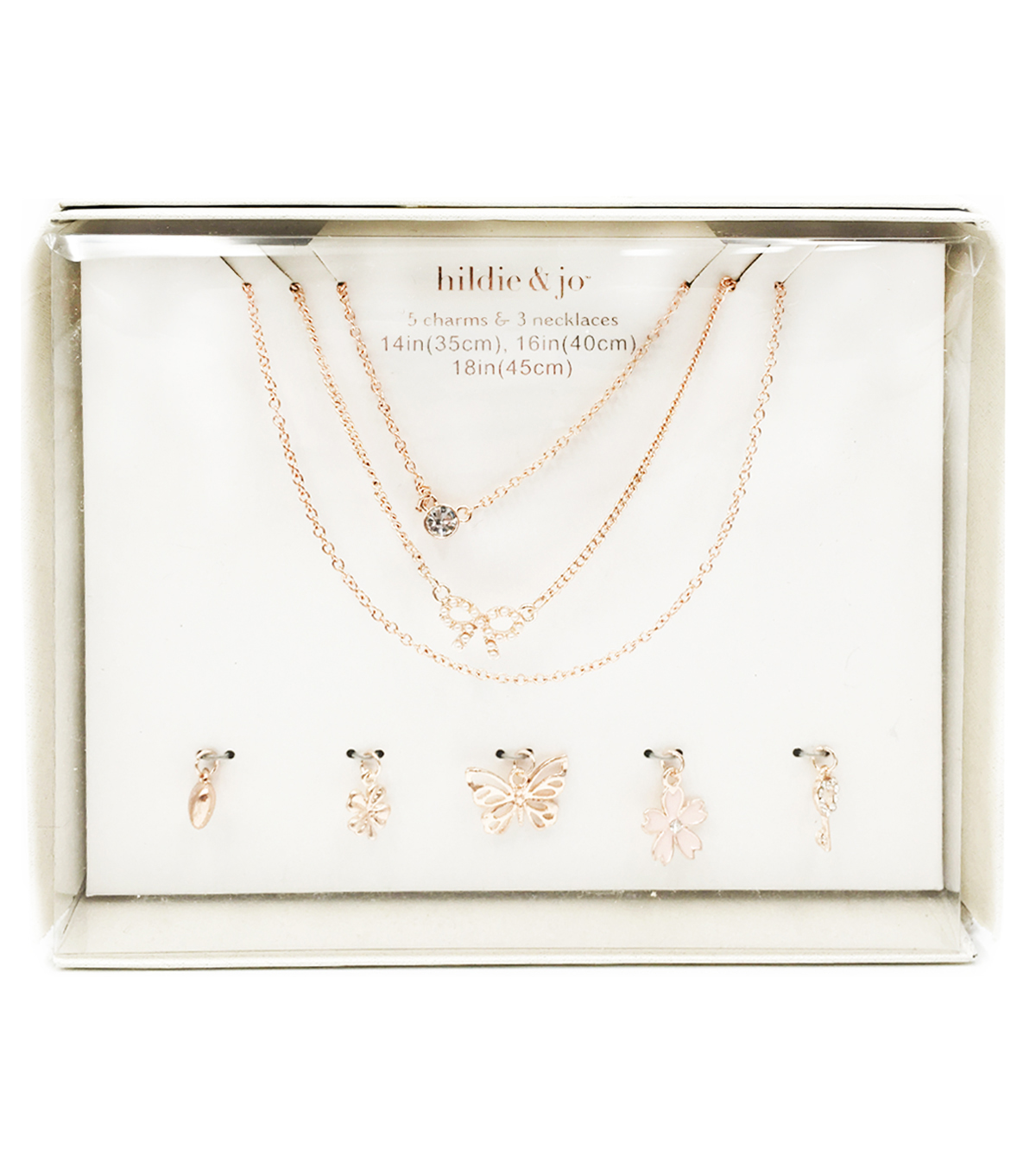 hildie & jo Rose Gold Charms & Necklaces